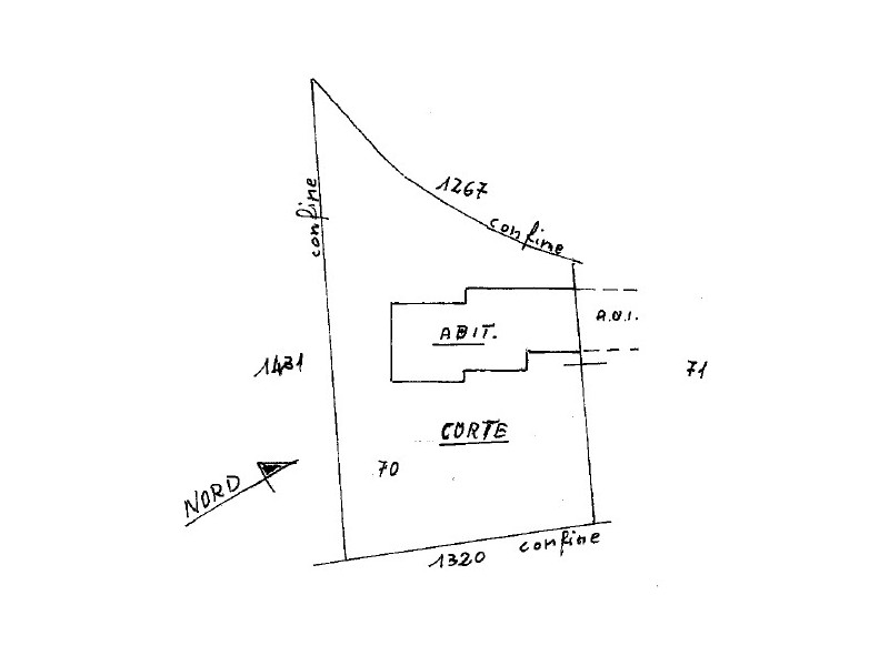 planimetria corte