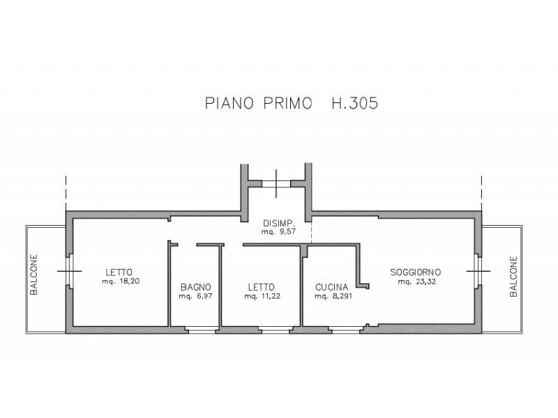 planimetria appartamento con misure